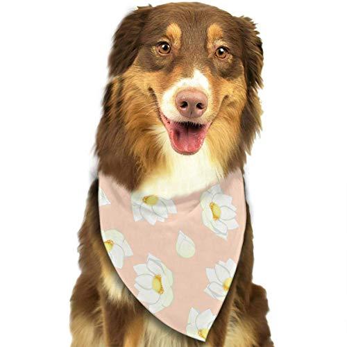 Hipiyoled Indisches Lotus-Muster stilvolle Hund Bandana Kragen waschbar Reversiable einstellbare Dreieck Lätzchen - Indische Muster Hanf