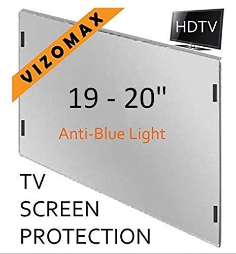 19-Zoll-Vizomax Anti-blau-Licht TV-Bildschirm-Schutz für LCD, LED und Plasma-HDTV. UV-Schutz, Fernseher-Displayschutz Protector