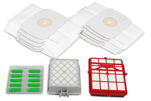 15 Premium Staubsaugerbeutel +1 Hepa Filter +1 Hepa Carbon Filter passend Lux Intelligence - Spezielle hygienisches Vliesfilterung - Garantiert hohe Saugleistung - Premium Qualität