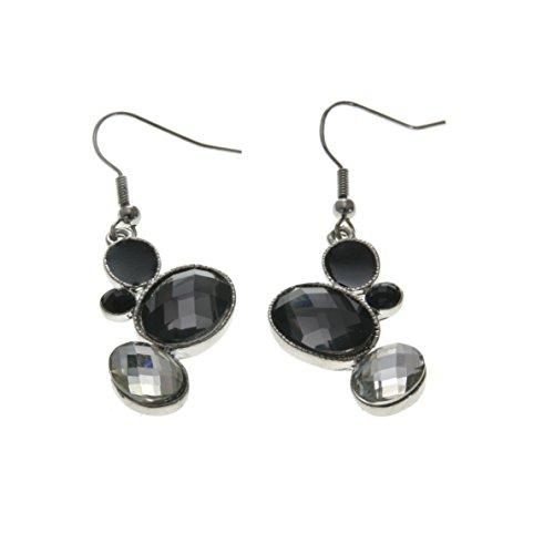 Hochwertige Ohrringe mit schwarzem kristall Stein - Ohrringe -