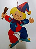 Hampelmann Clown aus Holz. Ca. 40 cm groß.