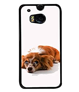 PrintVisa Innocent Dog High Gloss Designer Back Case Cover for HTC One M8 :: HTC M8 :: HTC One M8 Eye :: HTC One M8 Dual Sim :: HTC One M8s