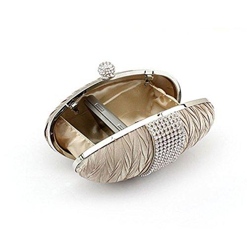 Borsa Della Signora Seta Diamante Sacchetto Di Sera Per Cellulari Cosmetici Delle Donne Bag Black