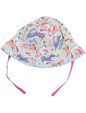 Piccalilly algodón orgánico azul y rosa bebé niñas caballo sombrero para el sol