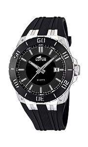Reloj analógico Lotus 15805/3 de cuarzo para hombre con correa de caucho, color negro