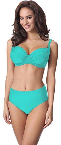 Merry Style Damen Bikini Set P61472W (Türkis, Cup 95 C/Unterteil 46)