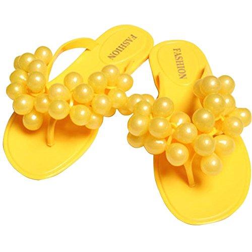 Minetom Damen Strand Pantoffeln Sexy Trauben Flip Flops Sommer Zehentrenner Outdoor Schuhe EU Größe ( Blau EU 40 ) HR2pwuuh