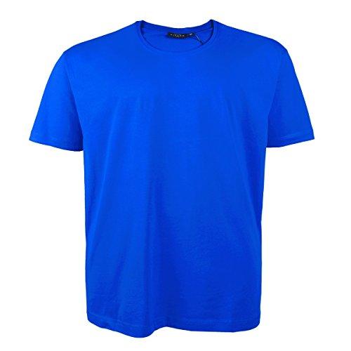 Kitaro Basic T-Shirt royalblau Herren in Übergröße Blau