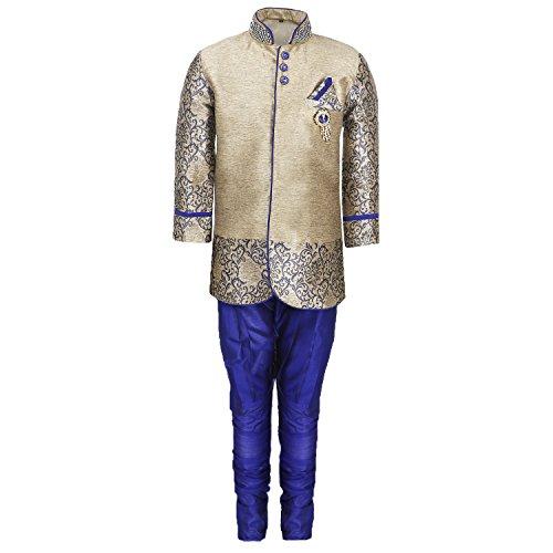 AJ Dezines Kids Party Wear Suit Set for Boys (828_BLUE_5)