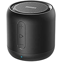 Anker Altoparlante Bluetooth Tascabile SoundCore Mini - Speaker Senza Fili Super-Portatile con Bassi Potenti, Tempo di Riproduzione di 15 Ore, Raggio di Connessione Bluetooth di 20 Metri, Microfono Incorporato e Guida Vocale per iPhone, iPad, Samsung, Huawei, Honor, Nexus, Laptop e Altri