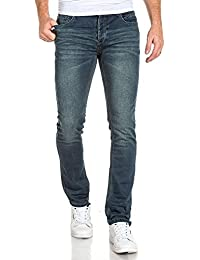 Deeluxe 74 - Jogg jean bleu délavé vieillit coutures fantaisie