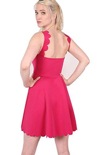 PILOT® Elsie pétoncles robe patineuse bord rose cerise