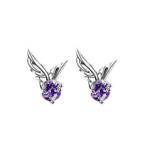 Da.Wa Charming And Elegant Earrings Women Girls Silver Jewelry Crystal Stud Earrings for Women