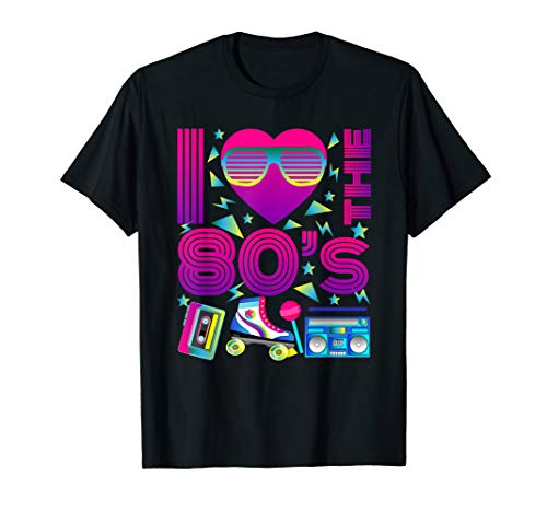 80er Jahre | I Love the 80s | Vintage Retro T-Shirt