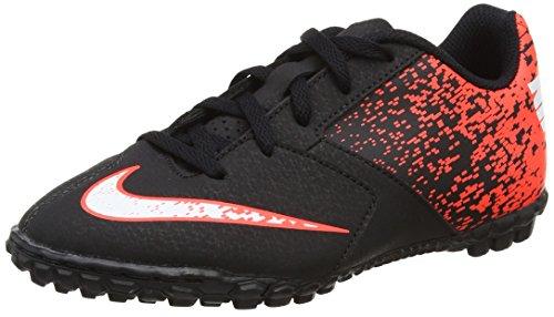 Nike Jr Bombax Tf, Botas de Fútbol Unisex Niños, Negro (Black / White-Total Crimson), 36.5 EU