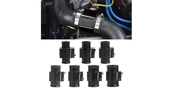 28mm Bigsweety Wassertemperaturadapter Temperatursensor Adapter Aluminiumlegierung Dreiwegtemperaturanzeige Adapter