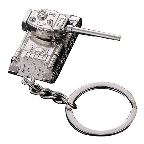 Yujum Männer Tanks Schlüsselanhänger aus Metall Tank Model Pendent Schlüsselanhänger Schlüsselanhänger Ringe Halter-Auto-Fans Souvenirs -