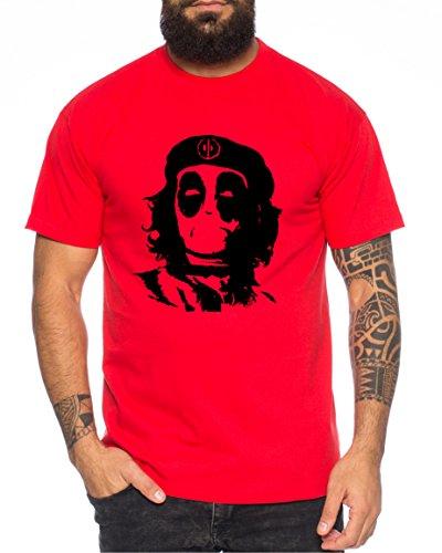 Che Pool Camiseta de Hombre Dead Comic Hero Viva la Revolution, Farbe2:Rojo;Größe2:4XL