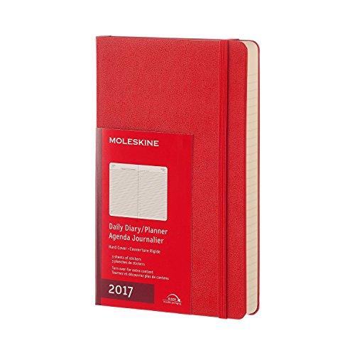 Moleskine DHF212DC3Y17 - Agenta diaria 12 meses, L 13 x 21, color rojo