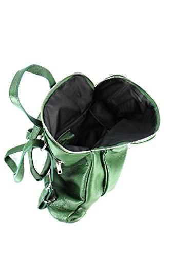 Belli, Borsa a zainetto donna Multicolore Cognac Verde