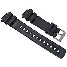 16 mm-black-replacement-resin-pvc-watch-band-fits casio-g-shock-dw6900-gw6900-dw6600