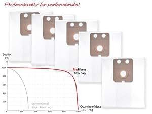 5x Sac-filtre tissus pour aspirateur Nilfisk GD 710, 910, 1000, 1010, 2000