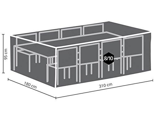 Perel Garden OCGS Protective Cover for Rectangular Lounge Set XXL Black 310 x 185 x 95 cm