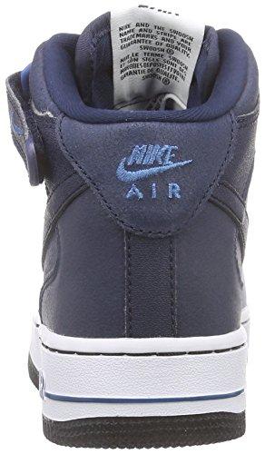 Nike Air Force 1 Mid (Gs), Baskets Basses garçon Bleu - Blau (Obsidian/Obsidian-Brigade Blue-White)