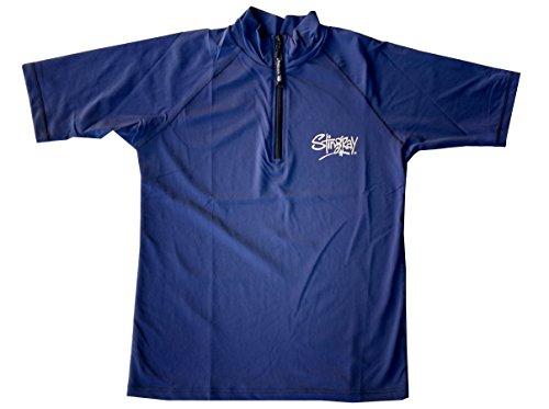 Herren Sun Schutz Plus Größe Swim Rash Shirt S/S mit Reißverschluss, Blau