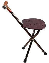 GUO Plegable de aluminio silla de caña de caña de heces de caña triangular con radio multifunción