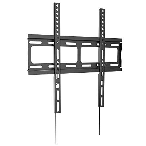 RICOO F0244, TV Wandhalterung, Flach, Fix, Ultra-Slim, Universal 26-55 Zoll (66-140 cm) TV-Halterung, LCD/Curved/LED Fernseher, VESA 400x400, Schwarz