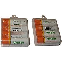 Batteria VHBW 8 x AA, Mignon, HR6, LR6 2500mAh per Sony Cyber-shot DSC-H1, DSC-H2, DSC-H5, DSC-H200, DSC-H300, DSC-P31, DSC-P32, DSC-P41