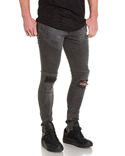 BLZ jeans - Jeans gris slim destroy homme Gris