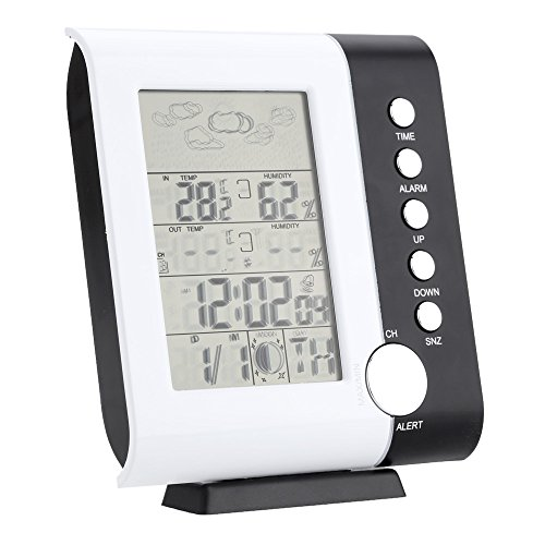 Funkwetter Uhr Thermometer Hygrometer Feuchtigkeit LCD-Display-ts-h105