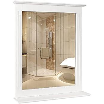 Specchio Con Cornice Per Bagno.Homfa Specchio Da Parete Per Bagno Specchio Cosmetico Da Parete