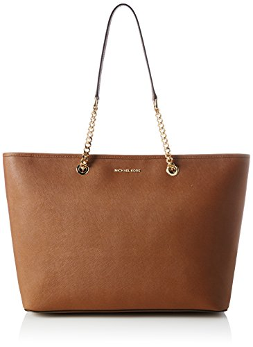 Michael Michael Kors Jet Set Medium Tote (Michael Kors Damen Jet Set Travel Chain Medium Tote Schultertasche, Braun (Luggage), 15 x 30 x 45 cm)