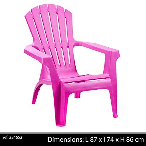 Progarden 36799dolomiti deck chair plastica, impilabile, rosa