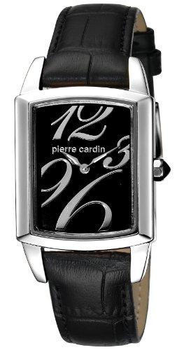 Pierre Cardin - PC104192F01 - Montre Femme - Quartz Analogique - Aiguilles Lumineuses - Bracelet Cuir Noir