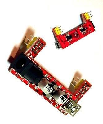 Generic eadboar Nuovo Breadboard Power oard P 2 canali y Module 2 Cha 5V 3.3V 3.3V modulo di alimentazione no per Arduino