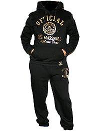 ORIGINAL MARSHALL Herren Jogginganzug Sporthose Jogginge Trahosiningshose Jogging anzug Sportanzug Trainingsanzug Hoodie Fitness-Hose