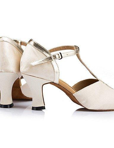 ShangYi Chaussures de danse ( Autre ) - Non Personnalisables - Talon Cubain - Cuir / Cuir Verni - Latine / Jazz White
