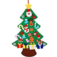 XONOR DIY Felt Christmas Tree Set with Ornaments for Kids, Xmas Gifts, New Year Door Wall Hanging Decorations (Style 2)