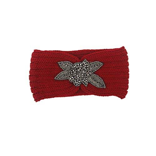 Minkissy diadema turbante ganchillo hilado lana banda