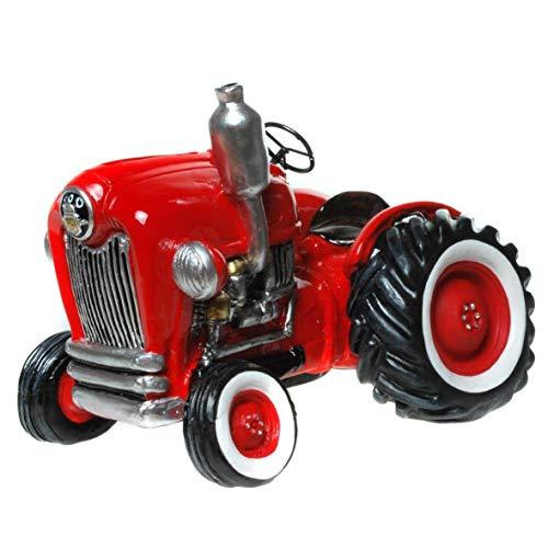 "Spardose,Sparbüchse  Traktor \""Nostalgie\"" in rot"