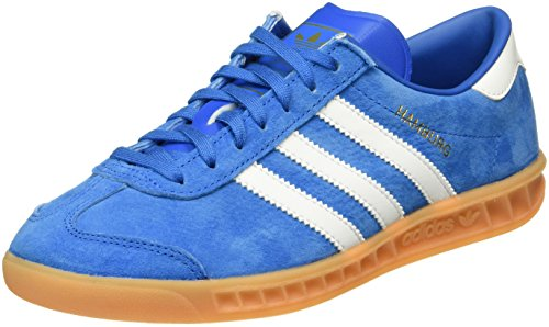 adidas Herren Hamburg Low-Top Blau (Bluebird/FTWR White/Gum) 38 EU