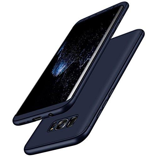 Qissy® Carcasa Samsung Galaxy S8 Plus ,3 in 1 Todo incluido Anti-Scratch Ultra Slim Protective 360 PC Case Cover para Samsung Galaxy S8/S8 + (Samsung Galaxy S8 Plus, Azul)