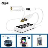 Anten Wifi Controller Für Led Streifen RGB, Fernbedienung kompatibel mit Google Assistant/Alexa, Wifi/App gesteuert, Ferngesteuert von Android/IOS, Farbänderung entsprechend dem Rhythmus der Musik