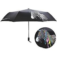 JAYLONG Paraguas de viaje 8 costillas cambian de color en el agua Construcción robusta en acero inoxidable portátil Paraguas plegable de secado rápido a ...