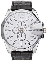 Reloj hombre Louis Villiers en acero blanco 50 mm lvag8912 – 22