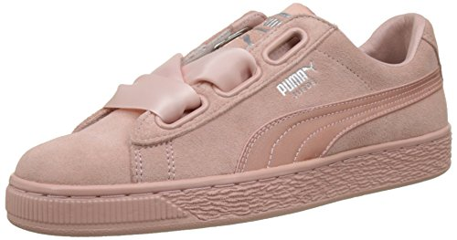 wholesale dealer 5adca eb343 Puma Damen Suede Heart EP Sneaker, (Peach-Metallic Beige), 38.5 EU